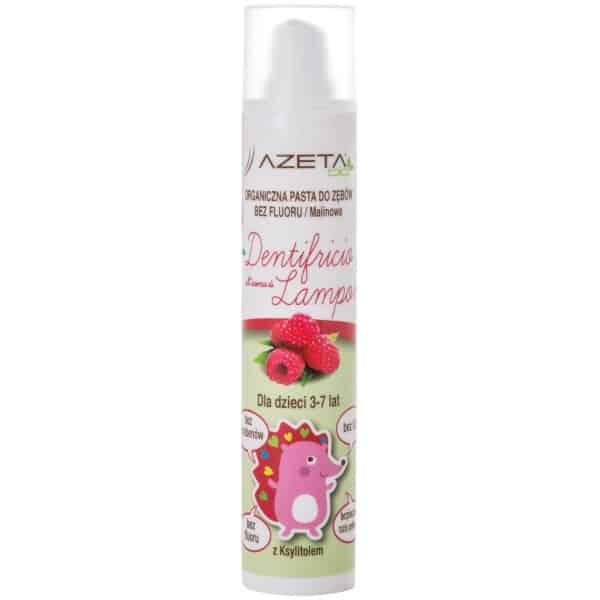 Azeta Bio, organiczna pasta dozębów bezfluoru dla dzieci 3-7 lat, Raspberry, Matka Aptekarka