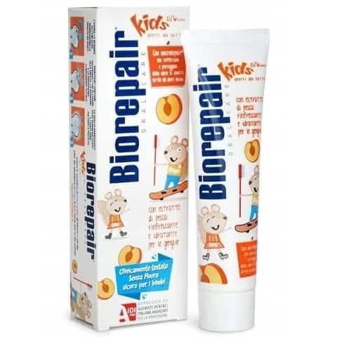 BioRepair Kids, pasta dozębów dla dzieci bezfluoru, brzoskwinia, Matka Aptekarka