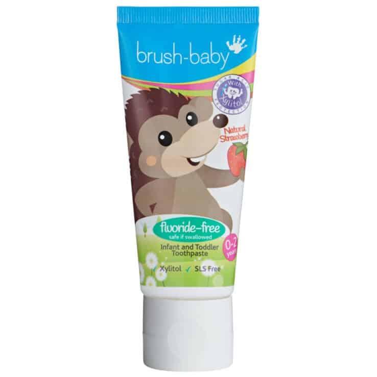 Brush Baby Fluor Free, pasta dozębów bezfluoru dla dzieci, Matka Aptekarka