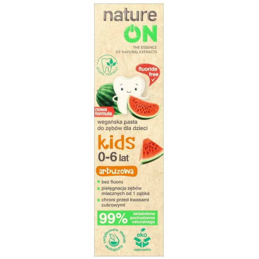 NatureON Kids, pasta bezfluoru dla dzieci, Matka Aptekarka