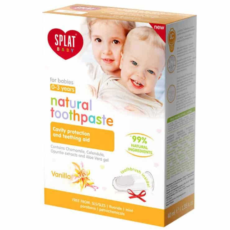 Splat Baby, bioaktywna pasta dozębów bezfluoru dla dzieci 0-3 lat, waniliowa, Matka Aptekarka