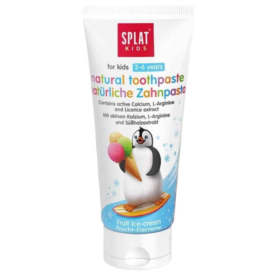 Splat Kids, naturalna pasta dozębów bezfluoru dla dzieci 2-6 lat, Pingwin, Matka Aptekarka