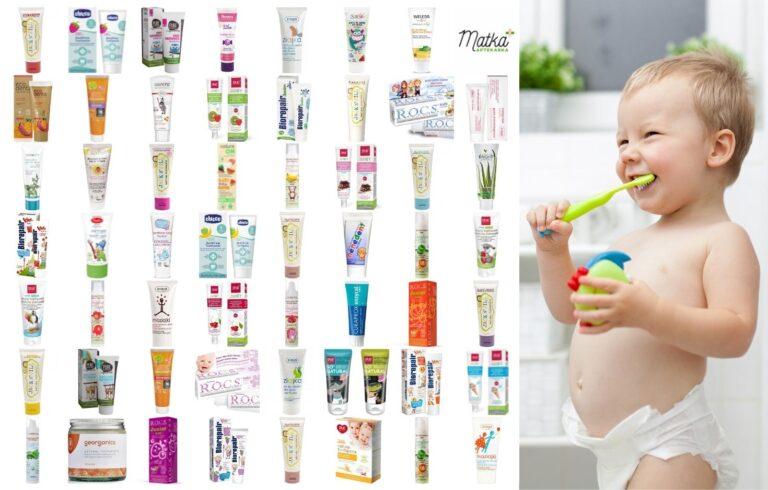 Zestawienie past do zębów bez fluoru dla dziecka, Matka Aptekarka, Pure Beginnings, Chicco, Splat, Ziaja, Urtekram, Azeta Bio, Rocs, NeoBio, Anthyllis